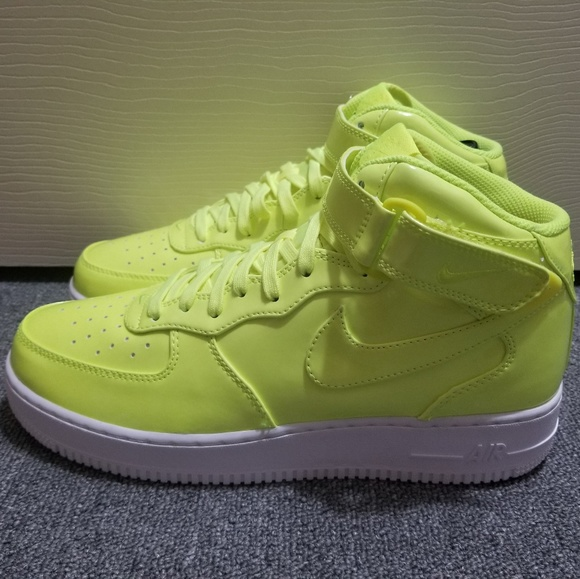 5ca05fea834 Nike Air Force 1 Mid  07 LV8 UV Volt White Shoes